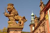 Heidelberg,University Square, Lion King Statue — Stock Photo