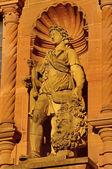 Heidelberger Castle, Ottheinrich building, statue of David — Stock Photo