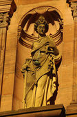 Heidelberger Castle, Ottheinrich building, statue of Justice — Stock Photo