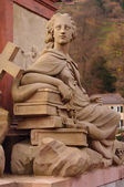 Goddies of Statue of Minerva on the Old Bridge in Heidelberg, Germany — Stock Photo