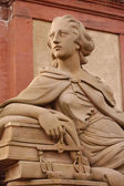 Goddies of Statue of Minerva on the Old Bridge in Heidelberg, Ge — Stock Photo