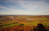 A view from Hohenzollern castle in Swabian during autumn, German — Stock Photo