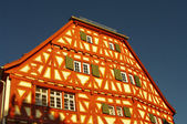 Wood-frame house in Ladenburg near Heidelberg in Germany — Stockfoto