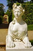 Sphinx statue at Schwetzingen Castle in Heidelberg — Stock Photo