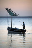 Sailing boat in Mozambique — Stock Photo