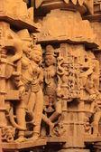 Fragmento de pedra escultura no templo antigo — Foto Stock