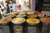Food in street market in India — Stock Photo