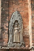 Divine sculpture on the temple's wall — Stock Photo