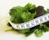 Salad with Measurement Tape — Stock Photo