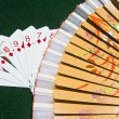 Street of Diamonds and a fan — Stock Photo