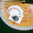 Stock Photo: Hearts to Spades on fan
