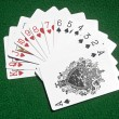 Hearts to Spades cards on table — Zdjęcie stockowe #5981280