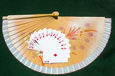 Street of Diamonds on a fan — Stock Photo