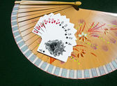 Hearts to Spades on a fan — Stock Photo