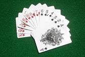 Hearts to Spades cards on the table — Stock Photo