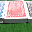 Three decks of cards — Stock Photo