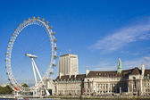 London Eye over blue sky — Stock Photo