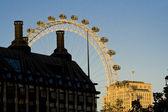 London Eye in sunset — Stock Photo