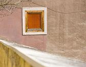 Orange pane on old wall — Stock Photo