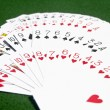 Stock Photo: Deck of cards on table