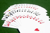 Deck of cards on the table — Stock Photo