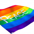 Rainbow Peace flag on white — Stock Photo