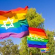 Set of rainbow flags — Stock Photo