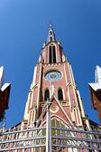 Na zewnątrz kościoła trójcy świętej — Zdjęcie stockowe