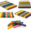 Colorful crayons. collage — Stock Photo #5975331