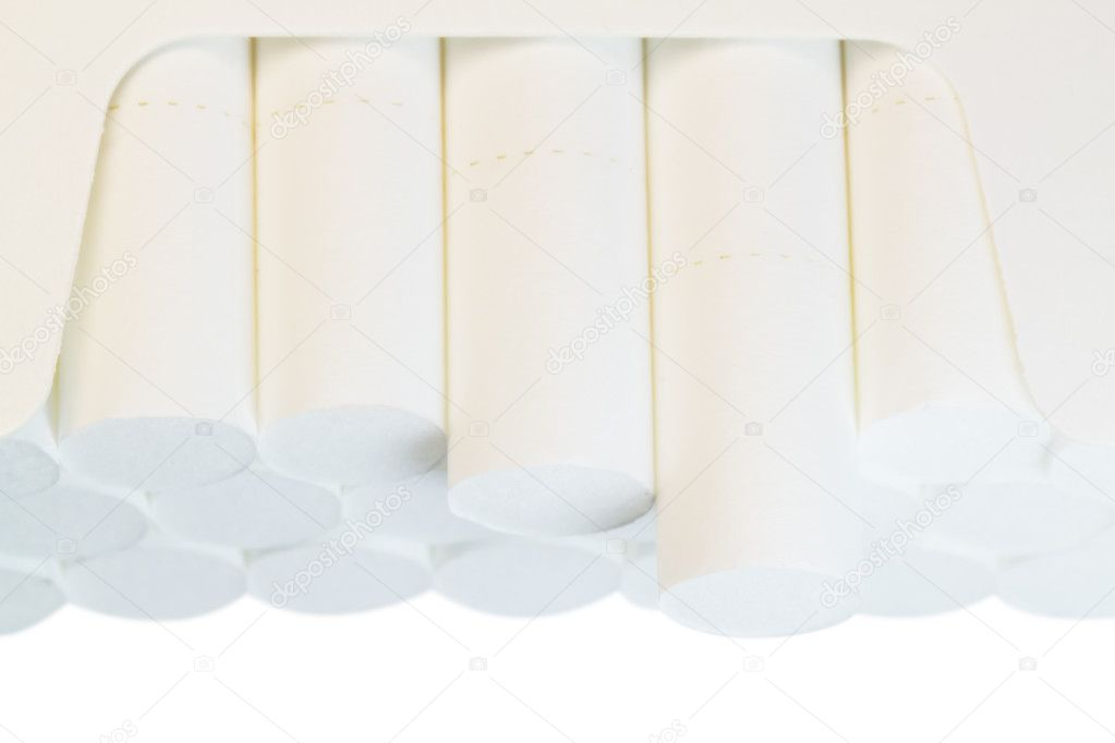 Cigarettes in a pack closeup — Stock Photo #6312553