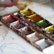 Stock Photo: Watercolor closeup