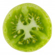 Green tomato on white background - Stock Photo