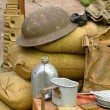 Items displayed from a World War 2 soldier — Stok fotoğraf