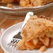 Stock Photo: Slice of deep dish apple pie