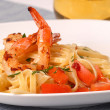 Sauteed shrimp and scallop with bacon vinaigrette - Foto Stock