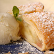 Royalty-Free Stock Photo: Apple strudel with vanilla ice cream