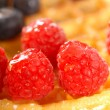 Stock Photo: Fresh waffle with fruit