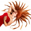 Stock Photo: Woman with starburst red hair