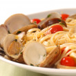 Royalty-Free Stock Photo: Linguine and clam sauce
