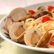 Stock Photo: Linguine with clam sauce