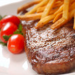 Stock Photo: Steak and Fries