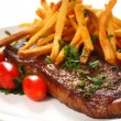 Steak and Fries - Lizenzfreies Foto