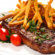 Steak and Fries - Stock fotografie