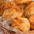 Cheddar cheese biscuits - Stock Photo