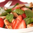 Spinach and strawberry salad — Stock Photo