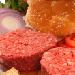 Ingredients for a hamburger — Stock Photo