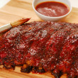 Slab of BBQ spare ribs — Stock Photo