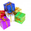 Colorful Christmas presents — Stock Photo