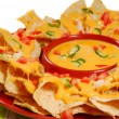 Plate of nachos - Foto Stock