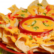 Plate of nachos - Stock Photo